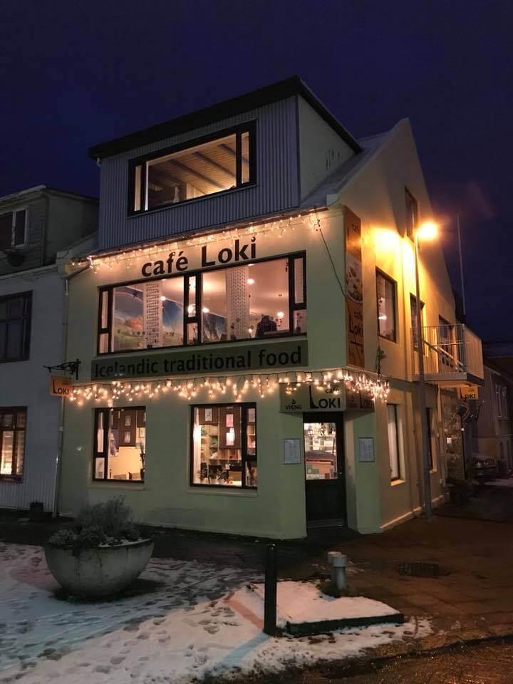 Cafe Loki, Reykjavík, Iceland, in darkness   Seeing the Northern Lights in Iceland   bucketlistmylife.com